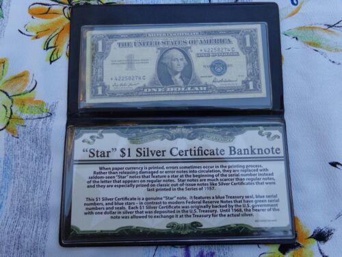 STAR $1 Silver Certificate Banknote