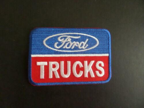 """""""FORD TRUCKS-"""" AUTO BLUE & RED EMBROIDERED IRON ON PATCHES 2-1/2 X 3-1/2"""