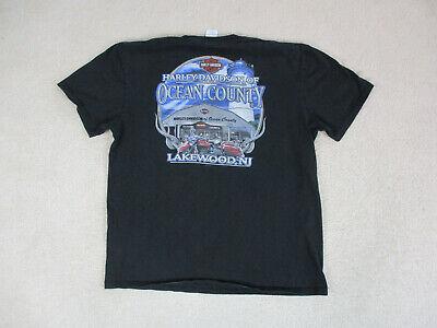 Harley Davidson Shirt Adult Extra Large Black Blue New Jersey Biker Motorcycle *