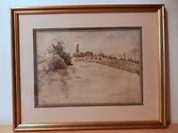 Cuadro Pintura Paisaje Casa Campiña -  - ebay.es