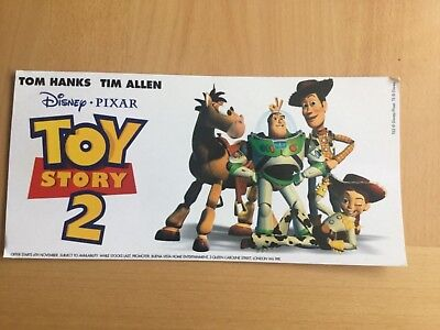 Toy Story 2 original official Video/DVD poster on thick card
