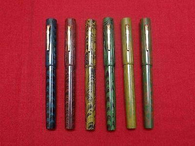 RANGA EBONITE FOUNTAIN PEN-SPL RIPPLE-GERMAN JOWO SCREW-IN-NIB AND CONVERTER