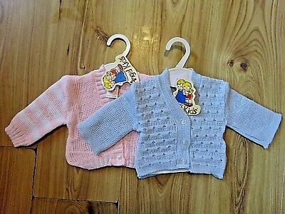 Baby Blue Candy (BABY BOY BLUE GIRL KNITTED CARDIGAN PINK CANDY STRIPED 0-3,3-6,6-9 MONTH GIFT)