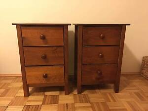 2 X Wooden Bedside Tables Randwick Eastern Suburbs Preview