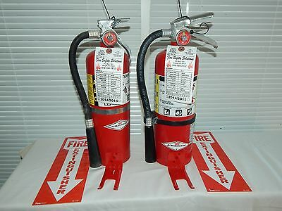 Fire Extinguisher - 5lb Abc Dry Chemical - Lot Of 3 Scratchdent