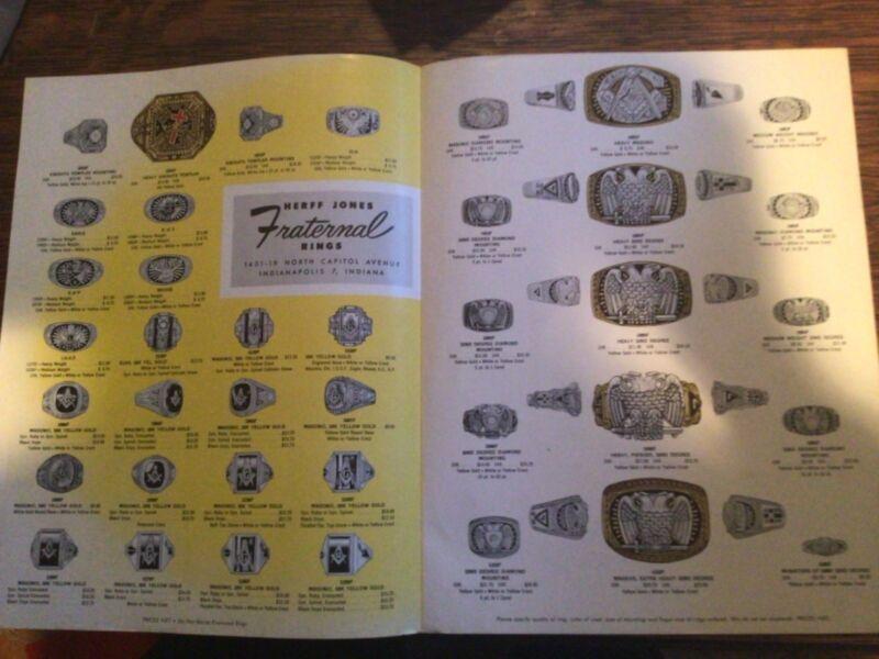 Lodge Emblem Ring Catalogs Herff Jones Indianapolis c1950