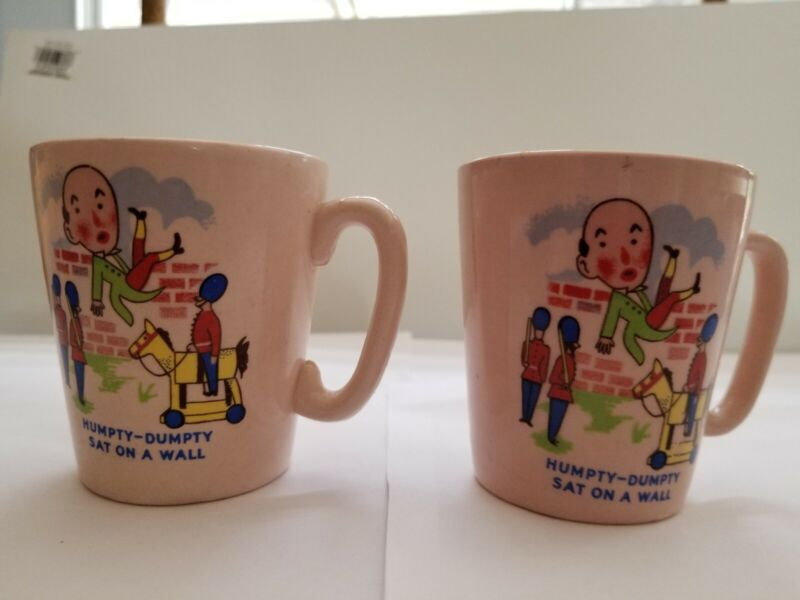 Vintage Humpty Dumpty Cups Lot of 2 KSP England