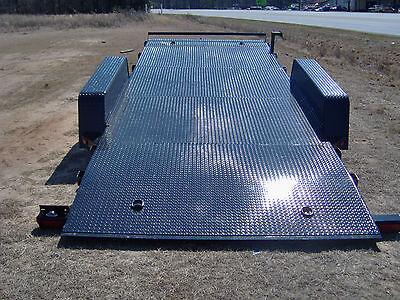 18 Steel Tilt Deck Equipment Car Hauler Trailer New Hyd