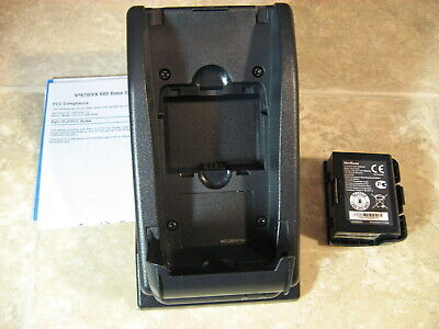 New Verifone Vx670 Or Vx680 Full Feature Charging Base Includes Extra Battery