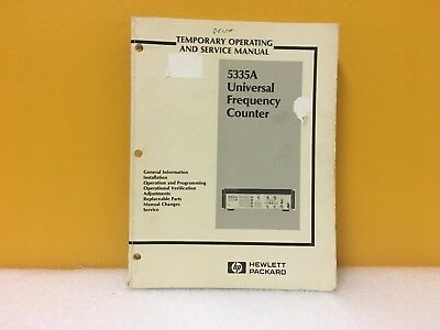 Hp Agilent 05335-90005 5335a Universal Frequency Counter Operating Service