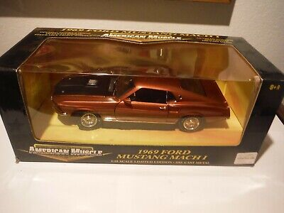 ERTL American Muscle 1969 Ford Mustang Mach1 1:18 Scale Diecast Model Car