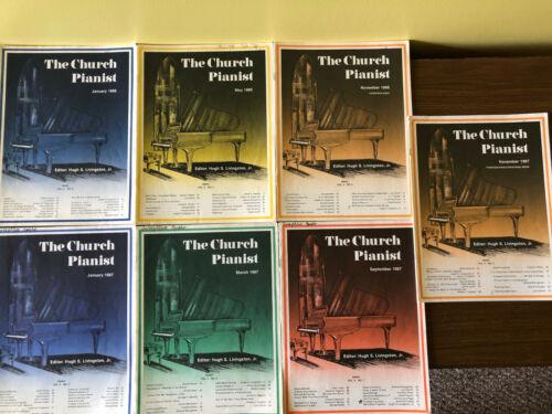 LOT Of 7 Church PIanist 1986-87 Piano Sheet Music Religious Devotional Gospel