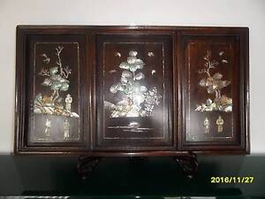 CHINESE ANTIQUE THREE-PANEL ROSEWOOD HANGING SCREEN Bexley Rockdale Area Preview