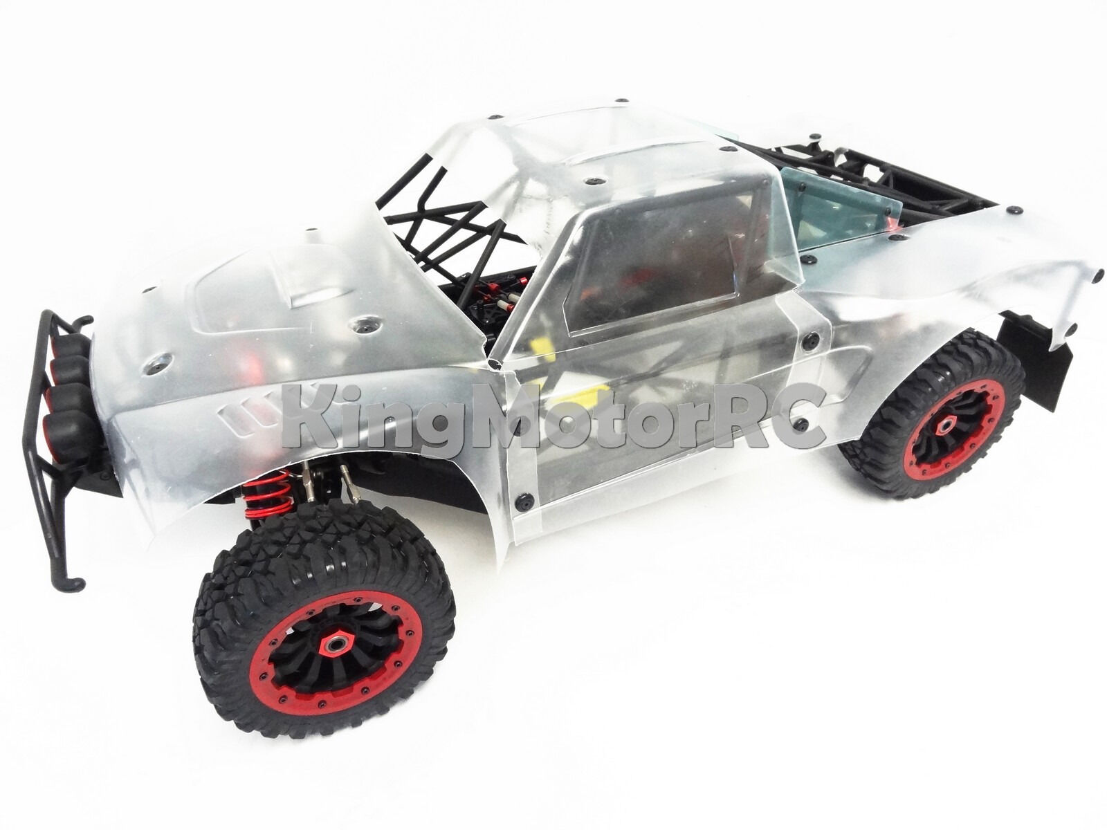 New 15 King Motor Rc X2 Roller Truck Clear Body Losi 5ive