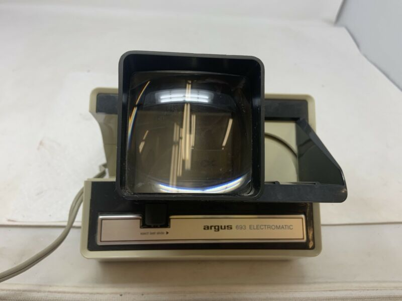 Vintage Argus 693 Electromatic 35 MM Slide Viewer Tested & Works Vtg