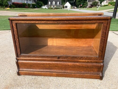 "Globe Wernicke  ""E""  Bookcase Section  13  1/2  & Base"