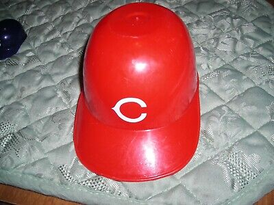MLB, Cincinnati Reds, mini plastic batting helmet display item, vg condition Cincinnati Reds Mini Batting Helmet