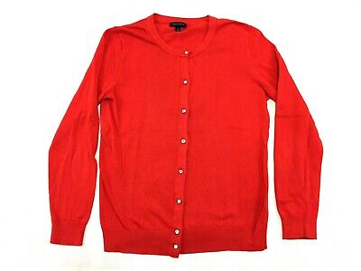 Tommy Hilfiger Womens Red Cardigan Button Up Sweater Size Medium M