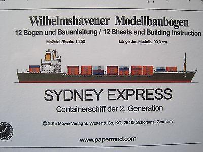 Sydney Express  Schiff Wilhelmshavener Modellbaubogen Bastelbogen Kartonmodell