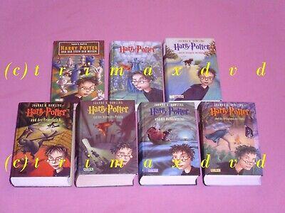 Harry Potter Büchersammlung Komplett 1-7 gebunden Ausgaben deutsch Guter Zustand