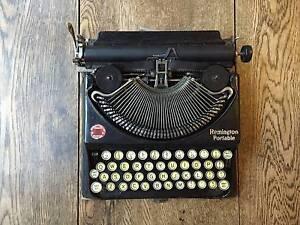 Vintage Typewriter (Classic 1930s Remington Portable) Footscray Maribyrnong Area Preview