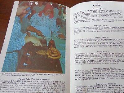 Best Loved Pennsylvania Dutch Recipes 1968 making true FUNNEL CAKE mailer Amish