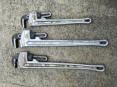 Ridgid Aluminum Wrench Lot - 24 24 14 - X3 Wrenches