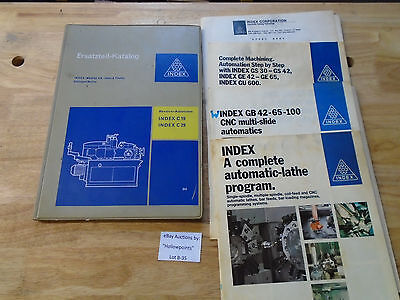 B35 Index Werke Cnc C19 C29 Parts Schematic Manual German Language W Extras