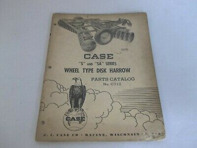 Case S Sa Series Wheel Type Disk Harrow Parts Catalog C712