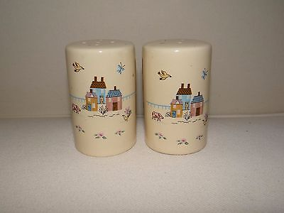 Stoneware International Heartland 7774 Japan Salt and Pepper Shakers  EUC