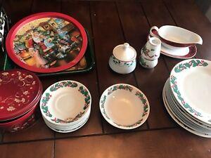 Huge set of Christmas dishes