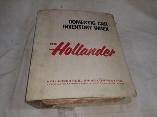 1973-1983 Hollander Domestic Car Inventory Index       -  DW412