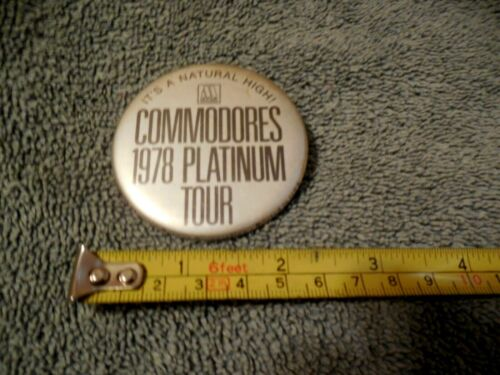Commodores 1978 Platinum Tour Promotional Pin Motown