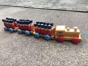 Toy Wooden Train Macgregor Belconnen Area Preview