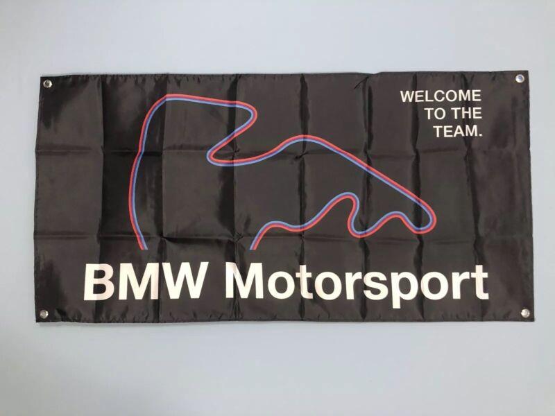 Black BMW M Motorsport Banner Flag map MotorSport Alpina M5 DTM M6 Dtm E30 M3 Z3