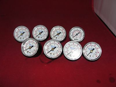 Smc 0-160 Psi Pressure Gauge Lot Of 8