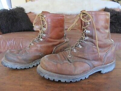 Vintage Red Wing Irish Setter Sport Boots Brown Leather Work Boots Moc Toe 11 D