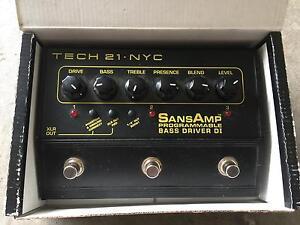 SansAmp Tech-21-Bass-Driver-Programmable-Bass-Driver Maribyrnong Maribyrnong Area Preview
