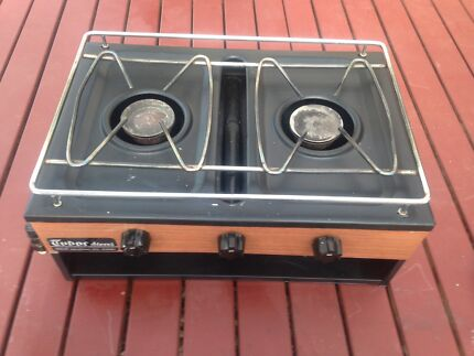 York caravan 1971 vintage stove top with gas bottle