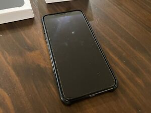 iPhone XS Max 256gb with Apple leather case and glass screen protector