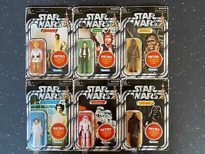 2019 Star Wars Retro Collection Set of 6 Action Figures In Hand