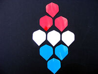 Dart Flights 3 X Mixed Colour Flight Sets Red White Blue Gloss Free Post - unbranded - ebay.co.uk