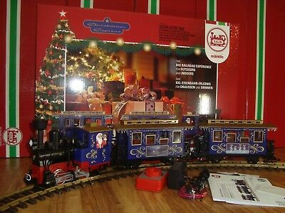 LGB 72305 BLUE CHRISTMAS EXPRESS PASSENGER TRAIN STARTER SET COMPLETE NEW IN BOX