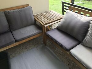 2 x 2 seater outdoor lounge coffee table