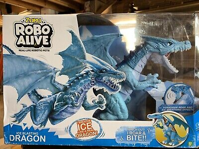 Robo Alive Roaring Ice Dragon Battery-Powered Robotic Toy by Zuru NEW DMGD BOX