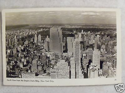 Rppc North View From Empire State Bldg New York City  N Y Real Photo Postcard Pc
