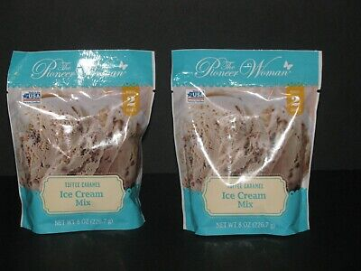 Pioneer Woman Toffee Caramel Ice Cream Mix Lot of 2 Makes 2 Quarts *Ships Free*