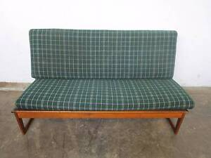 C44043 Vintage RETRO Oak 2.5/3 Seater Sofa Lounge Couch Mount Barker Mount Barker Area Preview