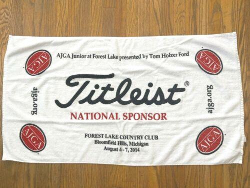 "TITLEIST GOLF TOWEL    2014 AJGA    38"" X 21"""