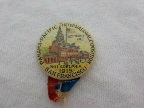 Antique Pin Pinback Button From The 1915 Panama Pacific International Exposition